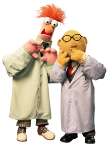 Bunsen Honeydew (right) and Beaker