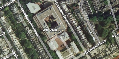 Satellite image of the conference centre